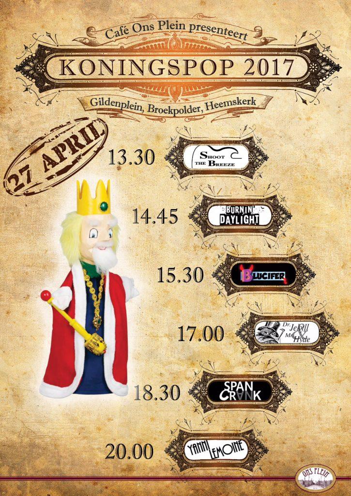 Poster Koningspop 2017